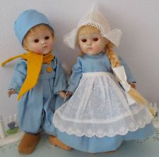 Vogue Strung Ginny Dutch Boy & Girl Early Transitional Dolls 1950 CharacterGroup