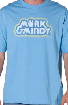 1ea2f868a00 Mork and Mindy Distressed Logo Shirt Mork   Mindy