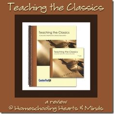 A review of Teaching the Classics!  Don't forget you can buy just the workbook (and not the DVDs) for a more budget-friendly option.
