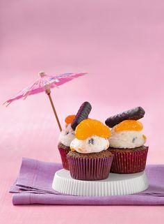 Mini-Muffins mit einer leichten Joghurtcreme