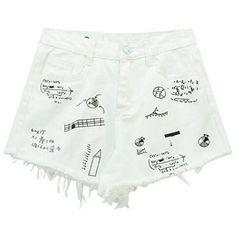 Chicnova Fashion Denim Shorts ($14) ❤ liked on Polyvore featuring shorts, high-waisted jean shorts, high waisted zipper shorts, denim shorts, high-rise shorts and highwaist shorts