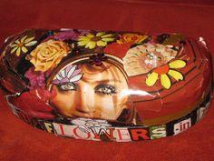 trinket box--flowers in her hair