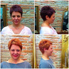 Cambio de color y corte de pelo corto - Color change and short haircut by Onda hair stylist, Lorena.   #color #haircolor #cortedepelo #haircut #shorthaircut #cortedepelocorto #cambiodecolor #colorchange #ondasalon #ondasalonbarceloneta #peluqueriabarceloneta #barceloneta #barcelona #hairandbeauty