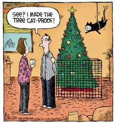 Christmas tree - Speed Bump for Funny Animal Images, Cute Funny Animals, Animal Memes, Funny Cute, Cute Cats, Hilarious, Crazy Cat Lady, Crazy Cats, Cat Jokes