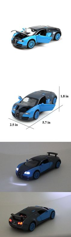 Diecast Toy Vehicles 51023: Bugatti Veyron 1:32 Alloy Diecast Car Model Collection Light Sound Blue Toy Kids -> BUY IT NOW ONLY: $71.76 on eBay!