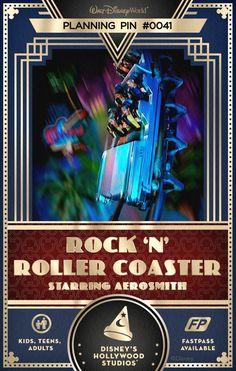 Walt Disney World Planning Pins: Blast off in a super-stretch limousine through the darkened freeways of Los Angeles to the rockin' tunes of Aerosmith.