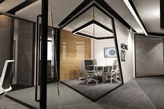 Salute Office by UDESIGN # interior architecture - TwoStyles Corporate Office Design, Office Space Design, Modern Office Design, Office Furniture Design, Corporate Interiors, Office Interior Design, Office Interiors, Furniture Showroom, Interior Modern