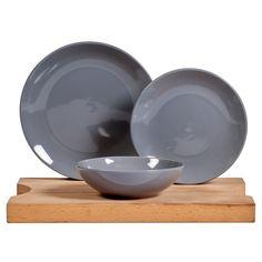 12 Piece Solid Glaze Dinner Set Grey | Crockery | Kitchen | Home & Garden | All Game Categories | Game South Africa All Games, Dinner Sets, Stoneware, Glaze, Microwave, Dishwasher, Home And Garden, Grey, Ceramica