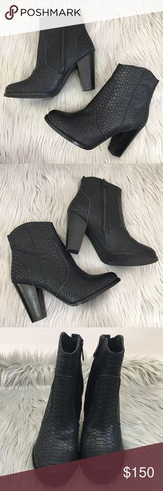 NEW Joie Black Leather Ankle Zip Up Booties Brand new never worn. EURO 36 Joie Shoes Ankle Boots & Booties