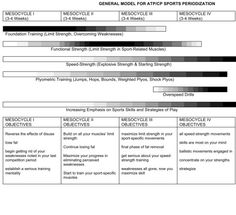 Periodization model