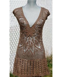 Crochet Lace Dress Made to Order by DearAlina on Etsy
