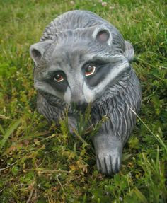 Ceramic RACCOON Big BRICK Stoneware Outdoor Garden Statue Yard Decor Racoon  Decor By MapleHillCeramics On Etsy