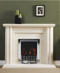 The unique markings on this beautiful Portugese Limestone make is one if the most popular materials for fireplaces! Focus Fireplaces, Fire Surround, Stove Fireplace, Log Burner, Gas And Electric, Popular, Unique, Beautiful, Home Decor