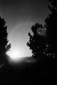 Rising moon in the Wind River Mts.