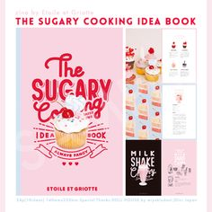the sugary cooking idea book Pop Design, Cover Design, Layout Design, Pastel Designs, Cute Designs, Cookbook Design, Graphic Design Print, Print Layout, Packaging Design Inspiration
