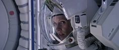 """Melissa Lewis (Jessica Chastain) begins her EVA in the 29015 movie """"The Martian"""""""