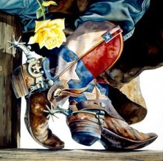 Lone Star Cowboy Boots and the Yellow Rose of Texas