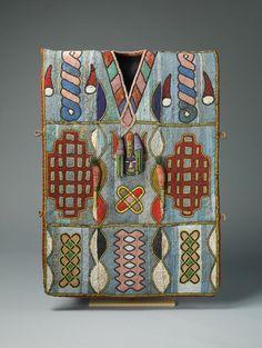 yoruba african beadwork | Royal Yoruba Tunic Covered with thousands of glass beads in intricate ...