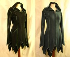Made to Order Longer at Back Goth Psy Elven by EuphoricGarments, Diy Cape, Elvish, Nerdy Things, Play Dress, Cool Costumes, Larp, Playing Dress Up, Armour, Vintage Outfits