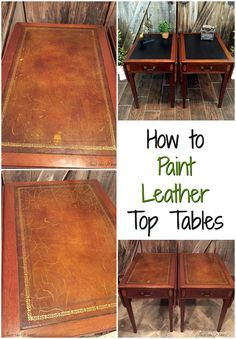 Yes, You Can Paint Leather  Vintage Drop Side Tables