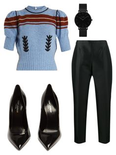"""""""Kira"""" by avaavalee on Polyvore featuring Miu Miu, Prada, Yves Saint Laurent and CLUSE"""
