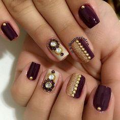Stunning nail art for brides and bridesmaids this season! Beautiful Nail Art, Gorgeous Nails, Love Nails, Pretty Nails, Beautiful Nail Designs, How To Do Nails, Subtle Nail Art, Nail Designer, Luxury Nails