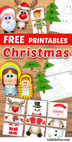 FREE Christmas printables for kids. Colouring Pages, Connect the Dots, Puzzle, Numbers, Paper Craft. Printable Christmas Games, Christmas Worksheets, Christmas Activities For Kids, Preschool Christmas, Christmas Puzzle, Christmas Mix, Christmas Colors, Christmas Themes, Simple Christmas