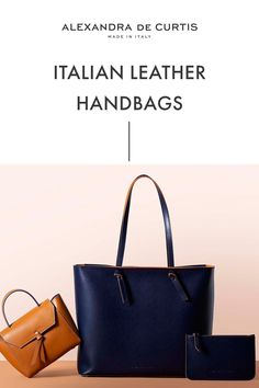 Are you looking for a designer leather handbag? Click through to check out these handbags, handmade in Italy with smooth Italian Leather Handbags, Designer Leather Handbags, How To Make Handbags, Leather Design, Ballet Flats, Style Inspiration, Purses, Luxury, Accessories