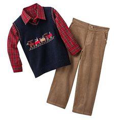 Great Guy Train Sweater Vest Set - Toddler