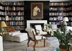 Habitually Chic®: Chic Reading: WSJ Magazine shows off this delicious library.