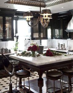 tommy hilfiger's bistro-inspired kitchen. I LOVE it. so much.