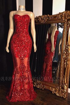 Looking for affordable Glittering Strapless Sweetheart Sequins Beaded Red Prom Dresses online? Visit this best UK online store to custom made special occasion dresses. Trendy Dresses, Sexy Dresses, Evening Dresses, Glam Dresses, Long Dresses, Fashion Dresses, Women's Fashion, Formal Dresses, Strapless Prom Dresses