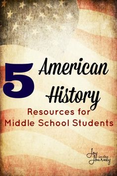 American History Resources for Middle School Students