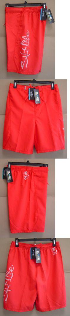 ce15df599b Swimwear 51919: Nwt Salt Life Youth Boys Xl Stealth Brigade Slx-Qd Swim  Boardshorts Red Sly417 -> BUY IT NOW ONLY: $30.99 on eBay!