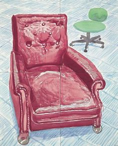 'Red Leather Chair' by David Hockney