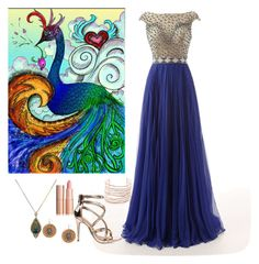 """""""Peacock ❤"""" by sindhunaga4 on Polyvore featuring Sevan Biçakçi, Anne Michelle and Alexis Bittar"""