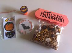 Healthy halloween with trail mix