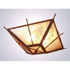 Steel Partners Bundle of Sticks Drop Ceiling Mount Finish: Rust, Shade Color: Bungalow Green
