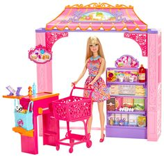 BARBIE®® Malibu Ave.™ Market + Doll