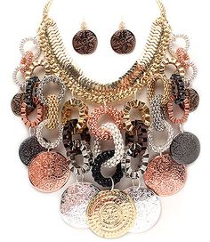 CHUNKY NECKLACE NECKLACE AND EARRING SET|Bozz Diva Boutique