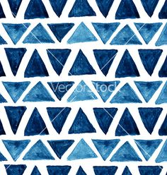 Watercolor geometric triangle pattern vector by Vodoleyka on VectorStock®