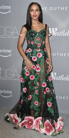 2e19edc043c96a Kerry Washington shut down the red carpet in a darling Dolce  amp  Gabbana  gown covered