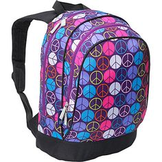 Wildkin Peace Signs Purple Sidekick Backpack: Bags. Use Ebates and get Cash Back!