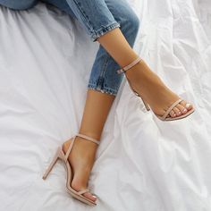 Women High Heels Sandlas Best Shoes 2019 Burgundy Pumps Sports Shoes F – sunflowerrlily Prom Heels, Shoes Heels, Nude Heels, Strappy Sandals, Leather Sandals, Single Strap Heels, High Sandals, Green Sandals, Mode Shoes