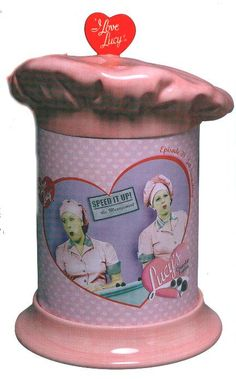 i love lucy cookie jars | Love Lucy Ceramic/Tin Cookie Jar Chocolate by SelvedgeDrygoods