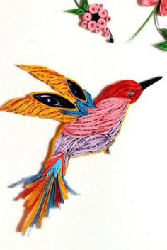Paper Quilling Birds Designs And