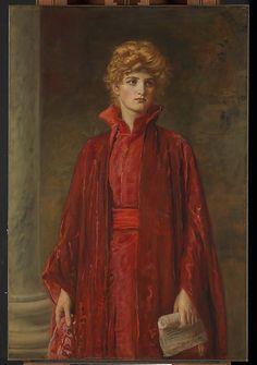 Sir John Everett Millais (English, 1829–1896). Portia (Kate Dolan), 1886. The Metropolitan Museum of Art, New York. Catharine Lorillard Wolfe Collection, Wolfe Fund, 1906 (06.1328) #reddress