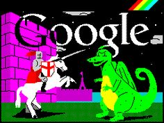 Google mash up - celebrate ZX Spectrum and St.George's Day. Nicely done #fb