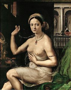 1520 donna allo specchio Pushkin Museum Moscow