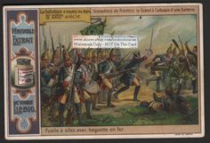 1700s French Grenadiers Storming Artillery c1900 Card